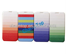 Gradient Leather Flip Case Cover For Samsung i9500 Galaxy S4