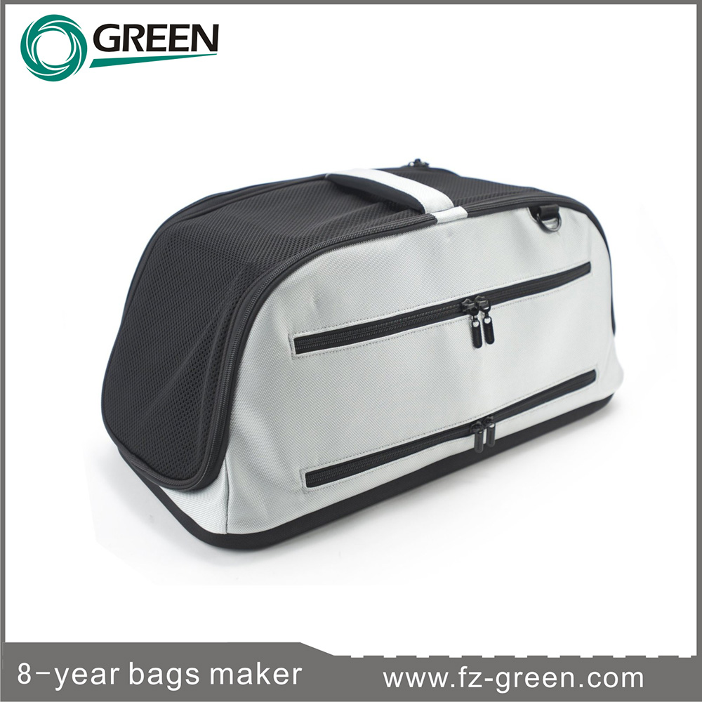 Foldable deluxe air travel pet carrier