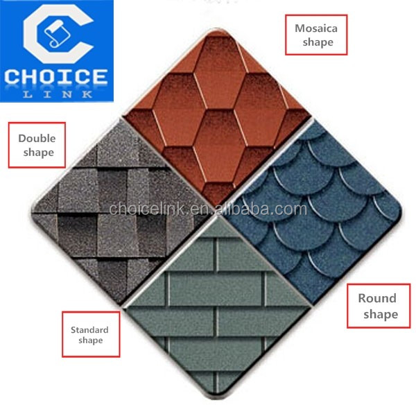 construction material 3 tab Asphalt roofing Shingles/tile for houses