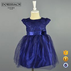 baby girl boutique clothing sets for weddings 2014 new design fashion baby dress in stock product