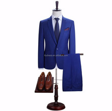 The latest men's suits formal occasions body suit groom high quality business males suit royal blue chinese factory sell