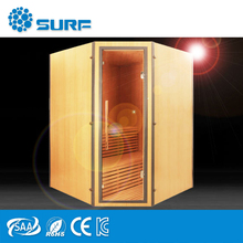 Release Stress Indoor Corner Wood Ozone Steam Sauna For Sale