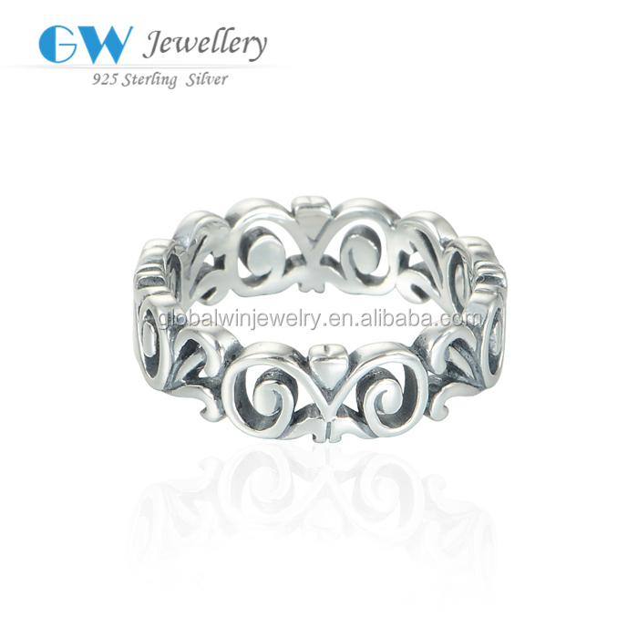 Open Working Latest Design 925 Solid Silver Ring For Wedding