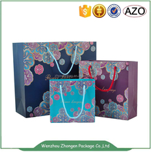 Fashional luxury gift shopping big strong paper bags with your own logo
