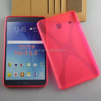 Newest fashion MIX Colors TPU Soft Gel X line Cover back cover for Samsung Galaxy Tab E 8.0 T377P china suppliers