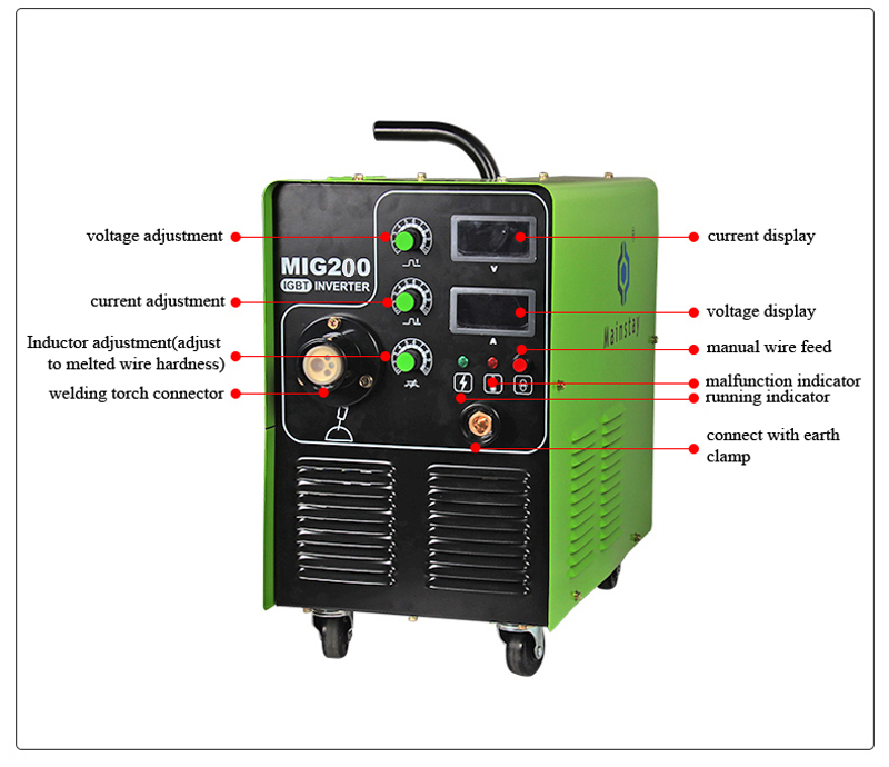 Trade Assurance mig welder CO2 welding machine price MIG200 IGBT