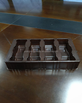 Customized chocolate blister insert tray with free sample,PET PS vacuum thermoforming chocolate blister tray with factory price