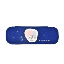 low price tin zippered cute school pencil case for girls
