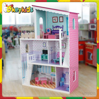 wholesale kids mini wooden doll house,top fashion baby mini wooden doll house,popular children mini wooden doll house W06A137W
