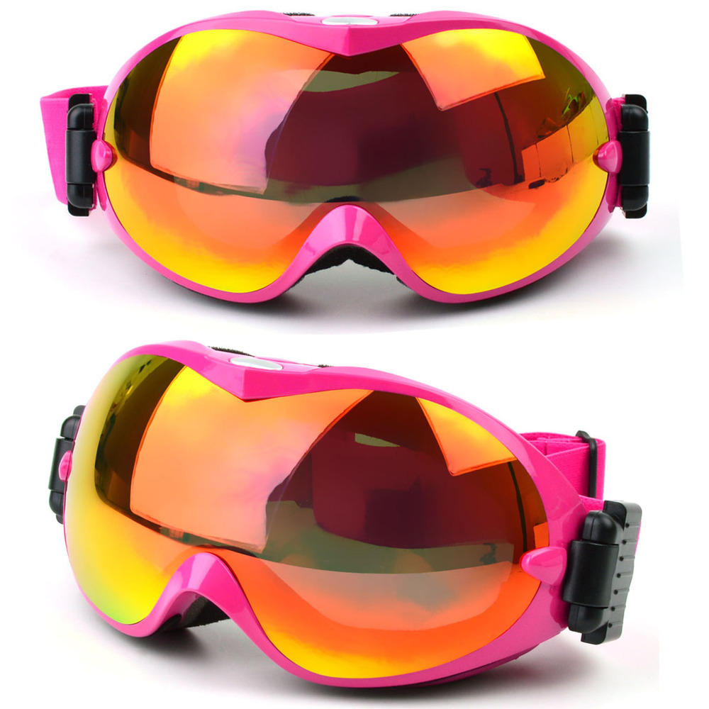 2017 Customized dual anti fog ski goggles