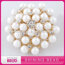 PEARL RHINESTONE BROOCH WHOLESALE
