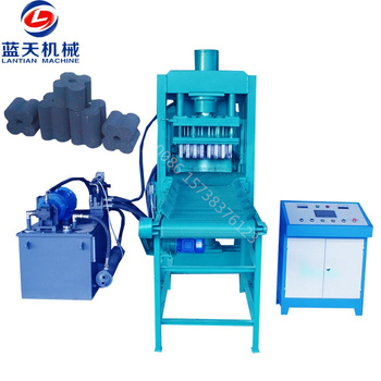 Automatic hydraulic compressed charcoal bbq machine