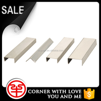 Newest Peak Season Factory Design Stainless Steel Alloy Square Metal Ceramic Tile Corner Edge Ttrim Protection for Bathroom Wall