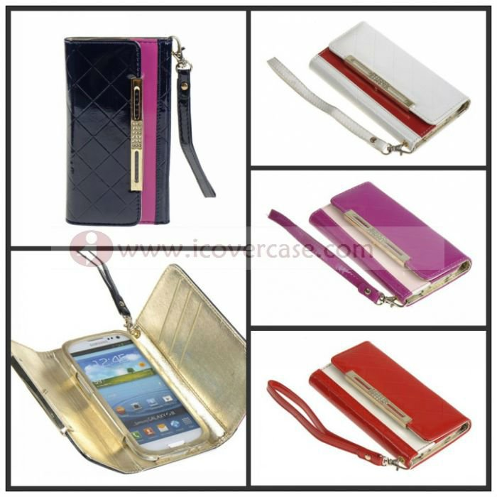 mobile phone case manufacturer wholesaler,DELUXE GOLGEN WALLE LEATHER CASE FOR SAMSUNG GALAXY S3 SIII I9300