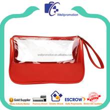 China cheap handled pvc cosmetic bag with zipper