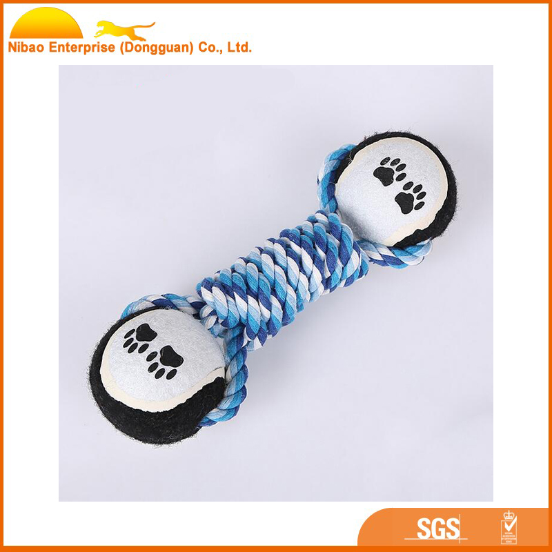 Cotton rope tennis ball training dog toy product