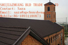 Roofing material- interlocking stone coated metal roofing tile