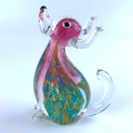 miniature murano small glass dog figurines