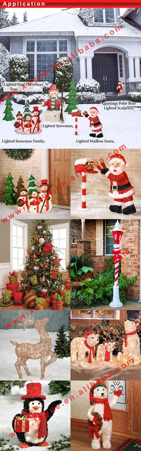 Outdoor Christmas Decoration Manufacturers : Lighted christmas wire reindeer for yard decoration buy