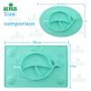 Multi Color Non Slip Soft Silicone Placemat for Kids with Whaple design bowl baby feeding silicone mat plate
