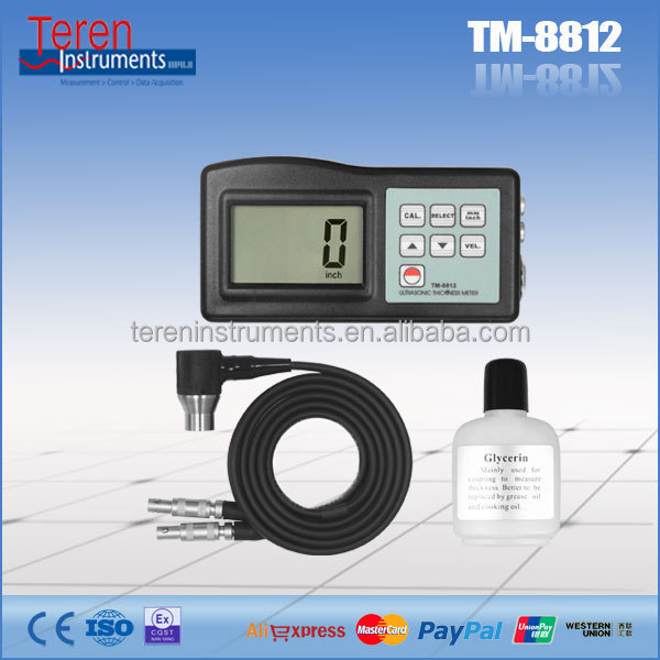 Battery power supply 0.1mm chemical equipment ultrasonic <strong>thickness</strong> meter TM8812