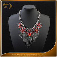 New product vintage tassels gem necklace different types of necklace chains jewelry