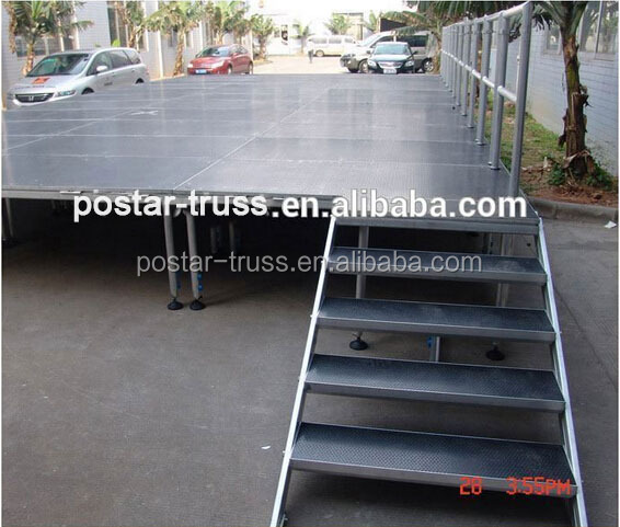 Alu frame 4'X4' event stage decorations with stairs