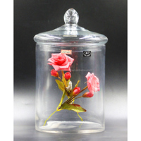 Anchor Hocking Glass Jar With Glass Lid
