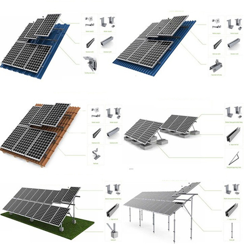 1000W 2000W 3000W 5000W solar energy generating systems full kit power plant 6KW solar panel for home electricity