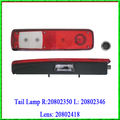 Tail Lamp for Volvo R 20802350 L 20802346 Lens 20802418