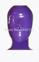2015 new fashion Full cover latex hood rubber mask 100% pure nature handmade latex plus size Hot sale
