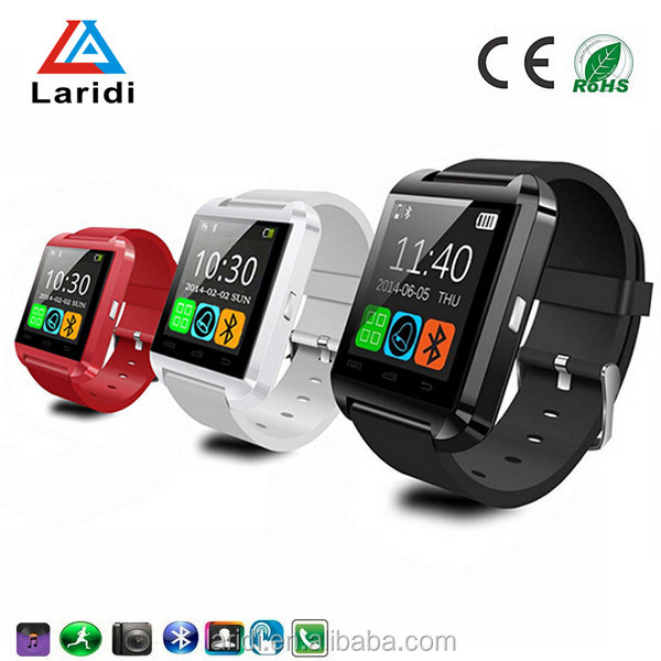Wholesale touch screen cheap health care smart watch U8 OEM bluetooth for android and ios
