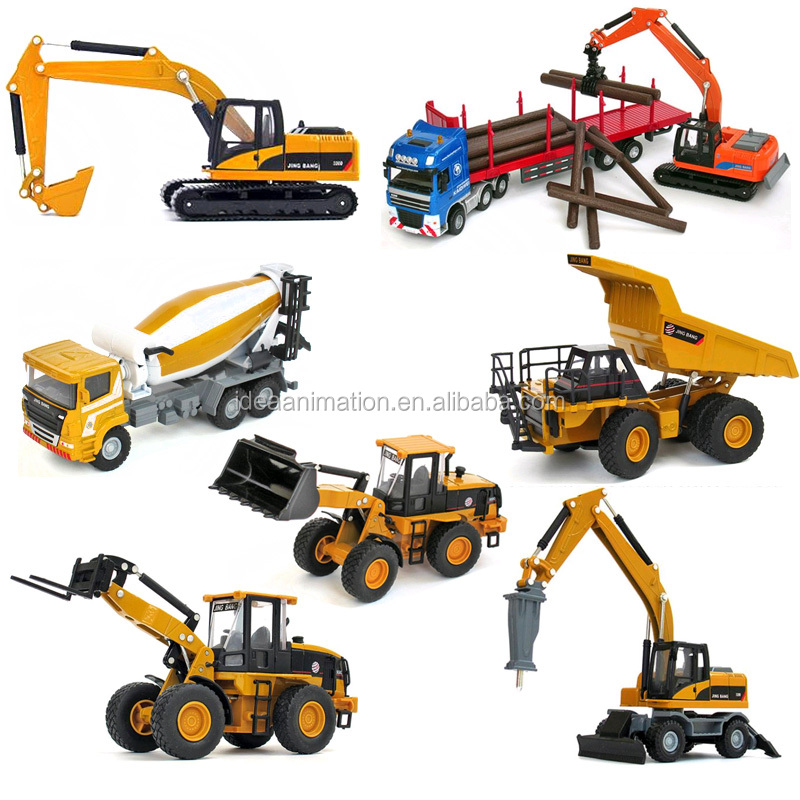 custom diecast metal construction engineering vehicles sets car toy scale model manufacturer