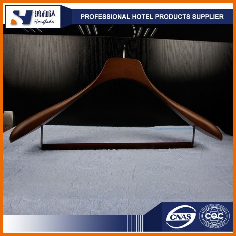 TOP Wooden Clothes Hanger Manufacturer Custom Luxury Wooden Hanger For Garment Shop and 5 Star Hotel