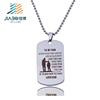printed stainless steel blank metal military dog tag stamped jewelry tags