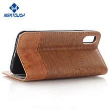 Wholesale mobile phone accessorise Sublimation Stand business card holder wallet leather phone case for iphone X