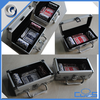 MLD-AC3117 Silver simple 50 chips storage aluminum gaming case for dices dealer pokers