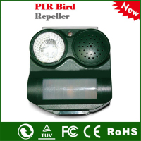 Outdoor Solar Power 3-Sound Mode Safe Harmless PIR Sensor Birds Repeller(stocked at New Jersey)
