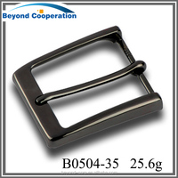 35mm Gentleman square fashion metal pin buckle for belt