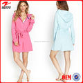 China online shopping women sleepwear/New fashion self-tie waist hood robe 2016