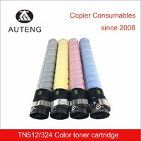TOP TN512 TN324 color toner in toner catridge for Konica Minolta bizhub c454 c554 c258 c308 c368