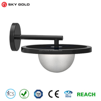 North America style outdoor decorative recessed solar hotel wall light