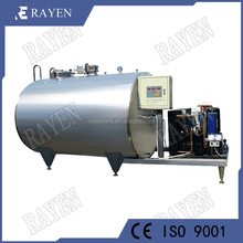 stainless steel refrigerated milk cooling tank for dairy farm