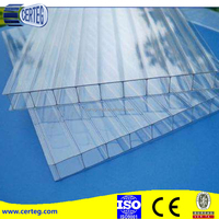 clear polycarbonate triple-wall sheet /pc hollow sheet /roofing sheet