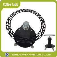 Decorate Vase Black Glass Side Tables