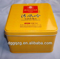 small rectangular metal tin case for food,Tea, or gift