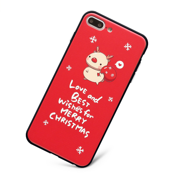 citycase Christmas Best Wishes Good Luck Design Free Sample Phone Case PC TPU for iPhone7 7plus handphone casing