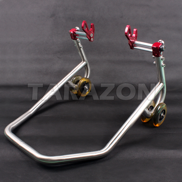 CNC machined universal road bike paddock rear stand for motorcycle