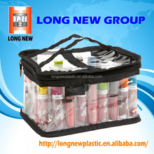 Professional Makeup Kit Bag with Zipper - PVC Transparent Clear Cosmetic Bag