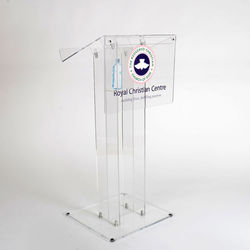 wholesale custom made clear church podium stand acrylic lectern